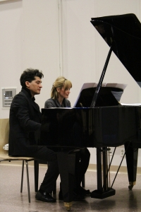 Leonardo Zunica ja Maria Ala-Hannula ovat yhdessä Ebony Piano Duo.