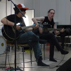 Abit pitivät jäähyväiskonsertin. Tomi Mäkisuvio (oikealla) ja Kasimir Kaakko.