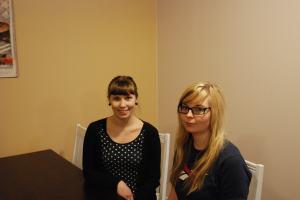 Jannaliina Jussinniemi ja Heli Hästbacka osallistuivat Puhvi-kokeeseen.