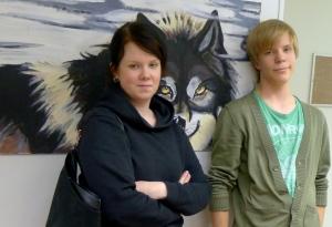 Liisa-Maria Koskela ja Roope Hietala tahtovat tehdä parhaansa Blondi-musikaalin orkesterissa.