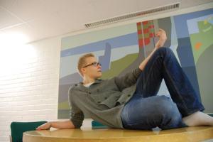 Näin Kalle Lahtinen halusi tulla kuvatuksi.